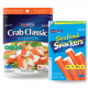 SAVE 50¢ on one package of Crab Classic. Lobster Classic or Seafood Snackers